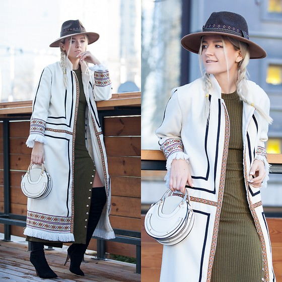 Cristina Tabun - Zaful Coat, Sammydress Bag, Asos Hat - Tribal Fringe Coat