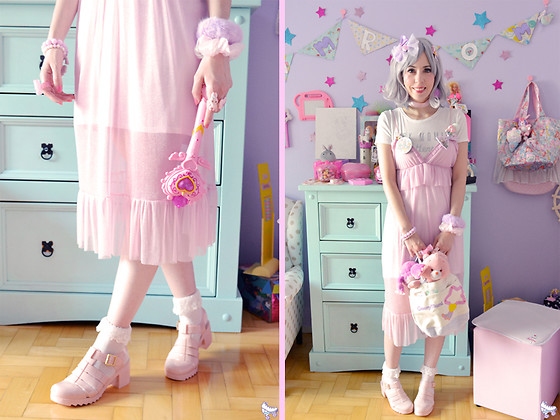 Luly Pastel Cubes - Riachuelo Dress, Petite Jolie Jelly - Pastel dream