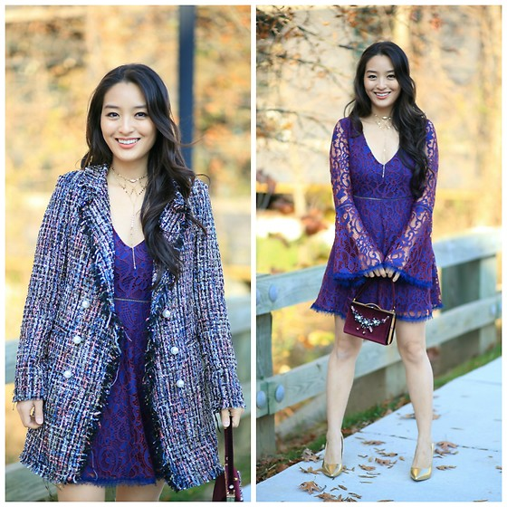 Kimberly Kong - Chicwish Tweed Coat, Undeniable Boutique Dress - The Tweed Coat You Never Knew You Needed