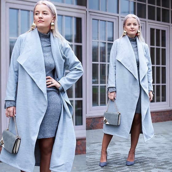 Cristina Tabun - Zaful Coat, Sammydress Bag - Waterfall Coat