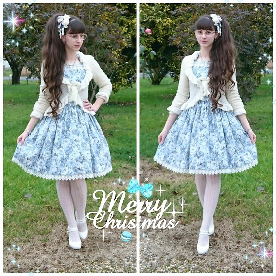 Yumi E.G. - Moi Meme Moitie Wool Cardigan, Classy Lady Roses Dress - Christmas eve