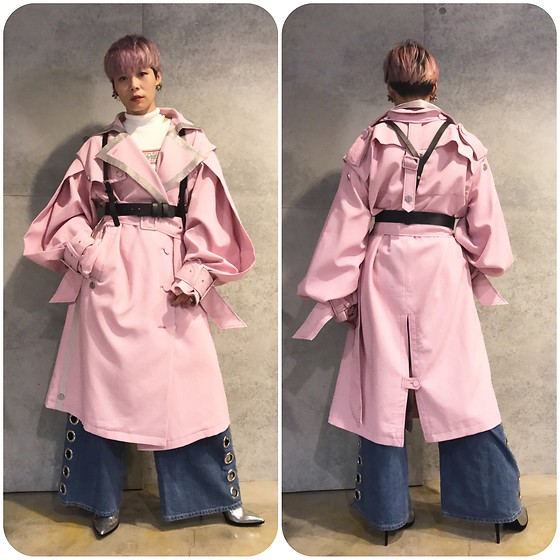 Joyce Chang - Seivson Pink Oversized Coat - Pink lady