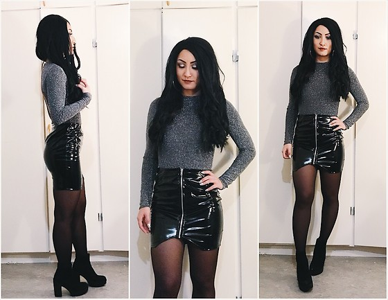 Jenny Drugge - Boohoo Skirt, H&M Body, H&M Boots - New year's look