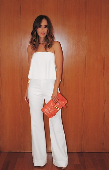Gabi May - Proenza Schouler Orange Clutch - NYE