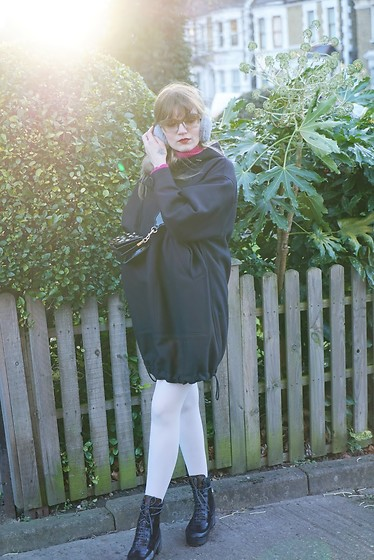 Carla V - H&M Oversized Anorak, Louis Vuitton Boots - The Anorak