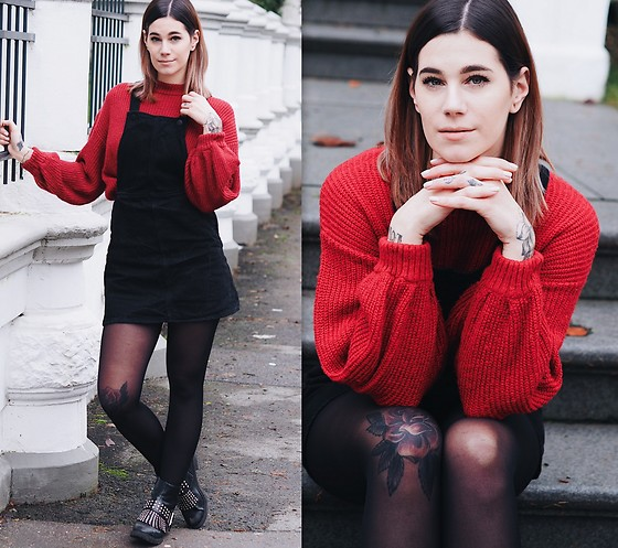 Nina Wirths - Miss Selfridge Jumper, Monki Dress, Asos Boots - Wanderlust is in my veins