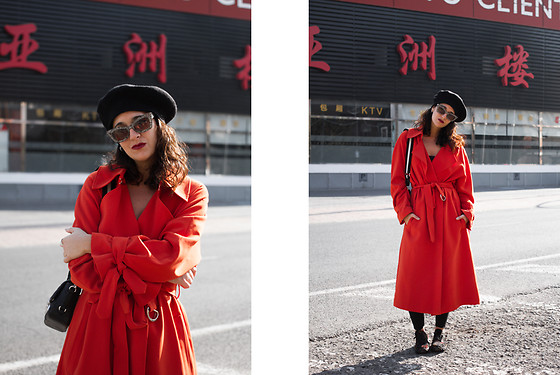 Maray - H&M Beret, H&M Coat, Slowwalk Sneakers - FAVORITE COMFORTABLE LOOK
