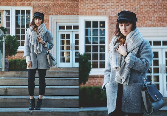 MaryAlice G - Freepeople Baker Boy Hat, Freepeople Girlfriend Jeans, Ankle Boots, Freepeople Blanket Scarf - Coldest Night + $100 Giveaway