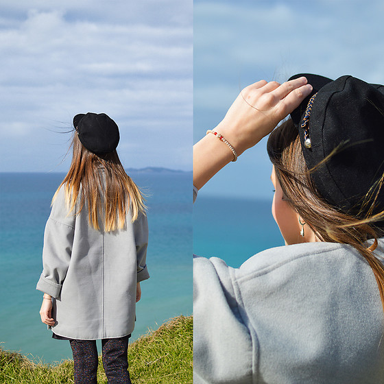 Tamara Bellis - H&M Coat, Rosegal Hat, Zara Boots - Sunday at the Peroulades