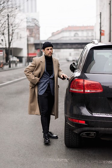 Kevin Elezaj - Zara Shoes, H&M Jeans, Hugo Boss Blazer, H&M Turtleneck, Acne Studios Coat, Topman Beanie - Ride