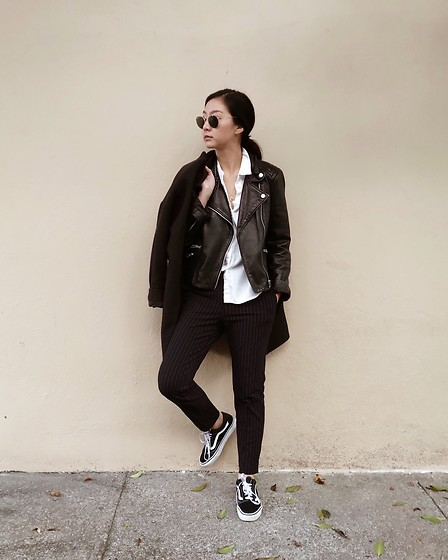 Tiffany Wang - Mango Leather Jacket, H&M Pants, Vans Sneakers - GREASE LIGHTNING