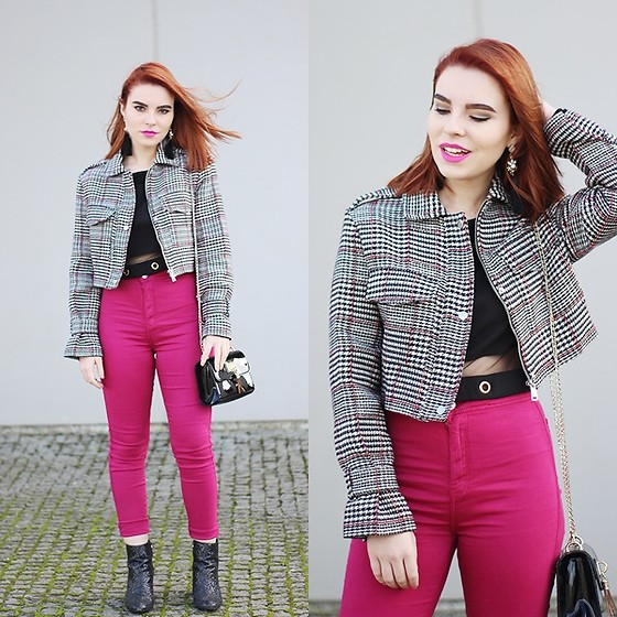 Carina Gonçalves - Rosegal Crop Top, Bershka Jacket, Bershka Pants, Bershka Boots - The wind, my dearest Enemy.