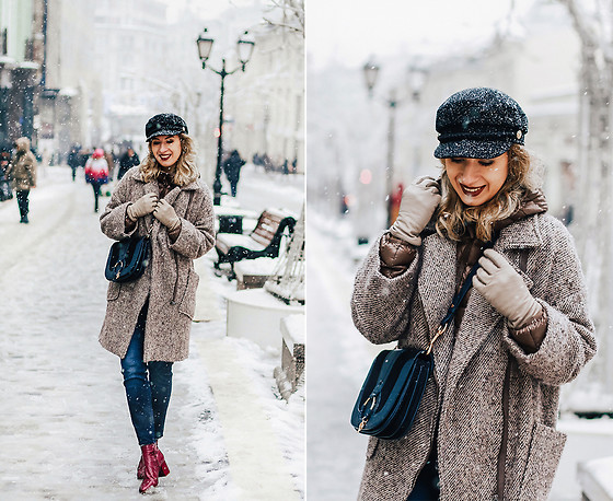 Margarita Maslova - Zara Wool Coat, See By Chloé Bag, Zara Ankle Boots - Let It Snow