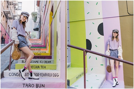 Nancy Qian - Monki White Chelsea Boots, River Island Captain Hat - Taro is my jam