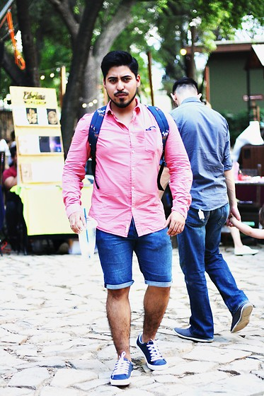 Pepe Vela - Pull & Bear Sneakers, Old Navy Denim Short, Shirt, Acapella Backpack - Local Flea Market