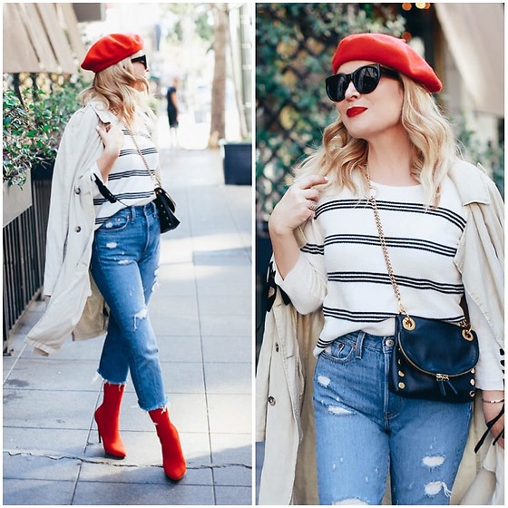 Zia Domic - Cece Striped Top, Levi's® Cropped Jeans - Not So Basic Stripes