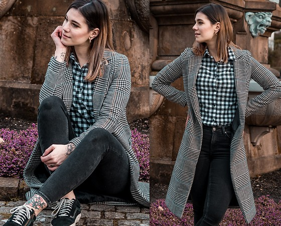 Nina Wirths - New Look Coat, Daisy Street Blouse, Weekday Jeans, Vans Shoes - Loverbirds