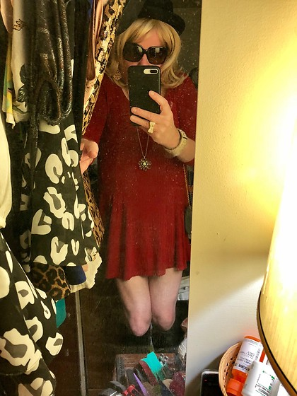 Jennifer S - Forever 21 Red Swing Dress, Chanel Sunnies - Dressed To Thrill