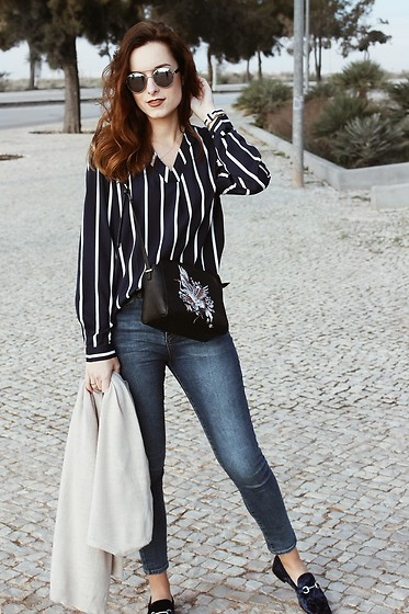 Lina . - Shein Blouse, Bershka Flats, Lefties Bag - Spring is just around the corner