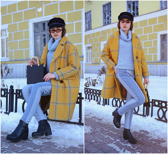 Daria Plyonkina - Zaful Jeans, Gamiss Sweater, Zaful Coat, Dresslily Cap, Twinkle Deals Bag, Zaful Glasses - Before spring