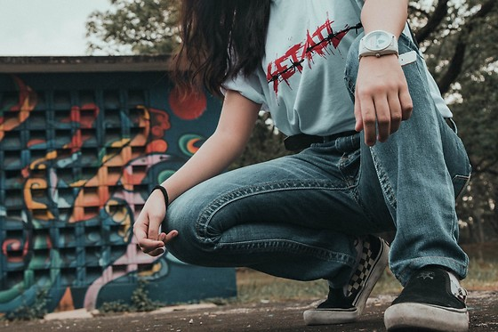 Nicole Saludar - Lee Denim, Vans Thrasher, Adidas Watch, Set Sail Supply Shirt - Thrash it out.