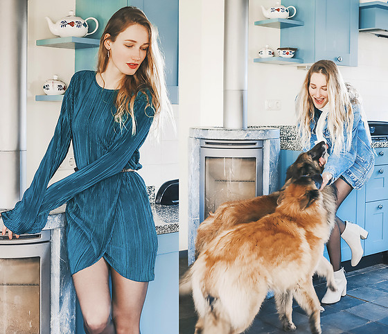 Eva Velt - Dress, Boots - Imma dog person