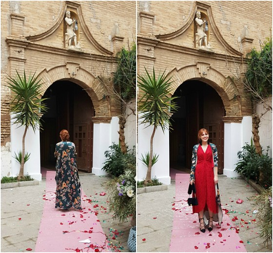 Mi Vida En Rojo - Zara Kimono, Miss Selfridge Dress - Wedding Style