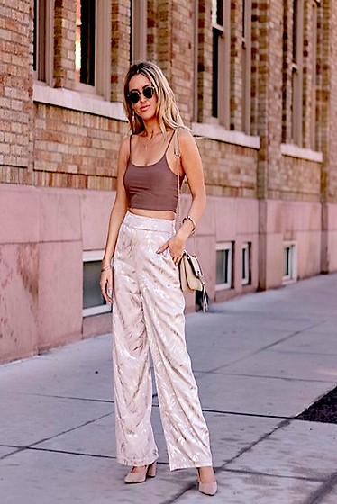 Amber Wilkerson - Pants, Tops, Sunglasses, Bags, Shoes, Bracelet, Necklace, Earrings - 50 SHADES OF NUDE