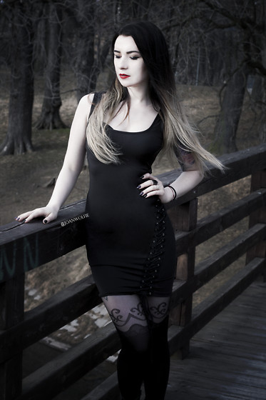 Joan Wolfie - Amiclubwear Dress - Casual Goth