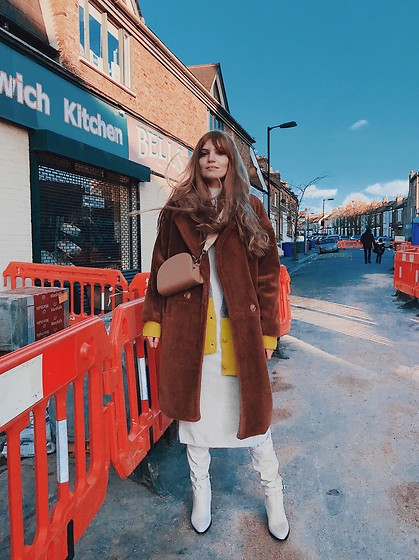 Carla V - Asos Dress, Zaful Boots, Stylewe Coat, Primark Cardigan, Rosegal Bag - Minimal Monday