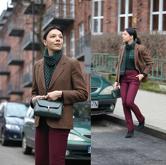 Minimalissmo .. - Mango Pants, New Yorker Turleneck, Zaful Bag - Burgundy and bottle green