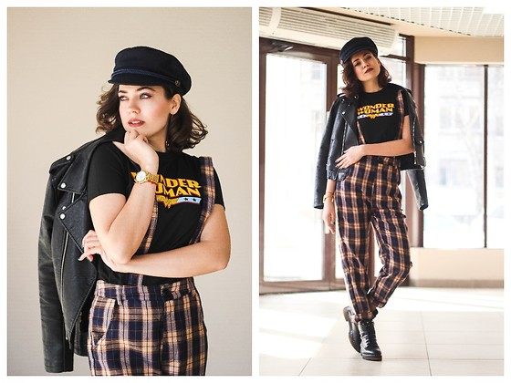 Katerina Lozovaya - Romwe Shirt, Romwe Pants, Rosegal Hat - Give me fire!