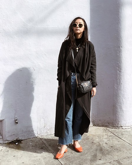 Tiffany Wang - Gucci Purse, Loq Shoes, Reformation Jeans, Grana Trench Coat - TRENCH