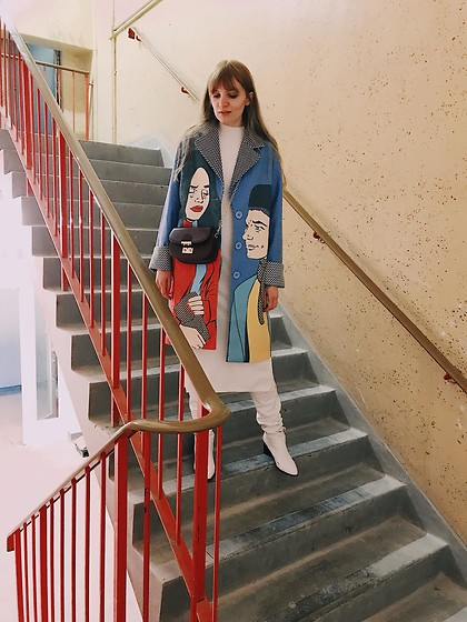 Carla V - Pop Art Coat, Asos Dress, Zaful Boots - Pop Art