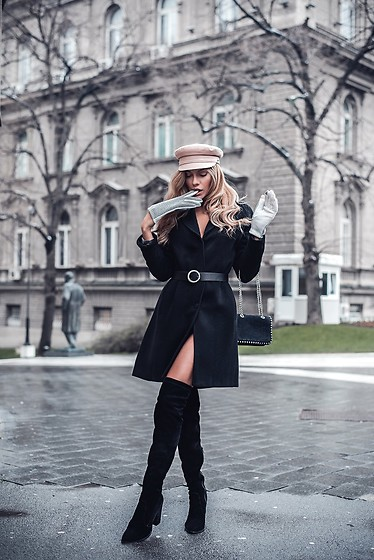 Dragana Savic - P....S....Fashion Gloves, Zara Coat, Zara Boots, Stradivarius Belt - Parisian feel