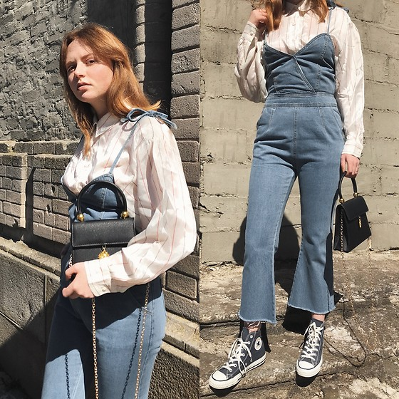 Kristina Magdalina - Poppy Lovers Jumpsuit And Bag - Denim Jumpsuit
