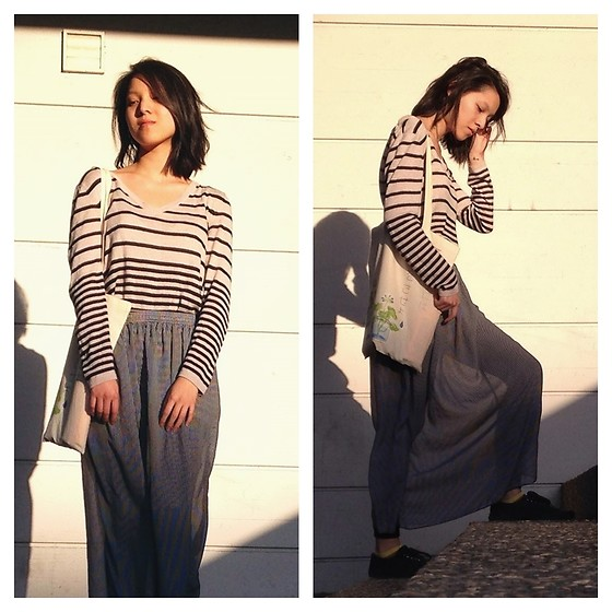 Tram Anh - H&M Jumper, Canvas Tote, American Apparel Maxi Skirt, Vans Shoes - 可愛い子には旅をさせよ