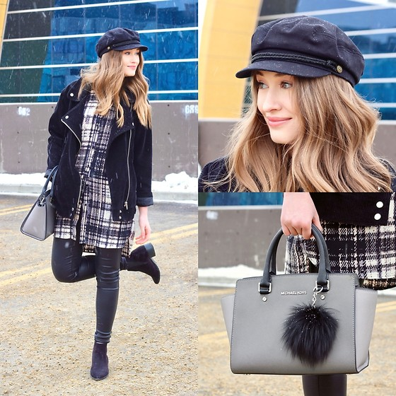Taylor Doucette - Blanknyc Corduroy Oversized Moto Jacket, Brixton Baker Boy Hat, Vero Moda Coated Denim, Michael Kors Structured Top Handle Handbag - People's Champ - Arkells