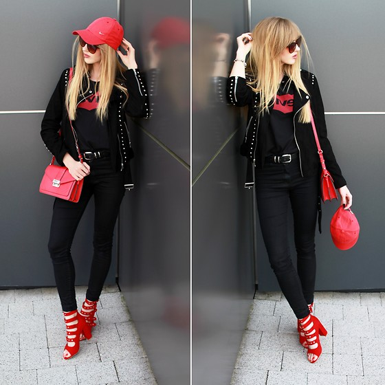 Diane Fashion -  - Black and red look