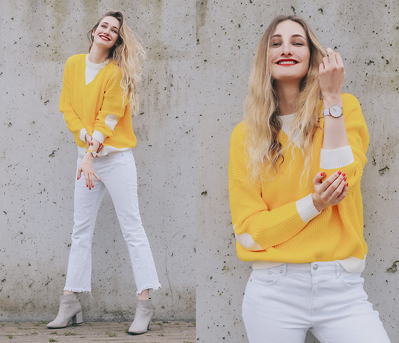 Eva Velt - Juno Mallet Watch, Vipme Sweater - Sweet sunshine vibes