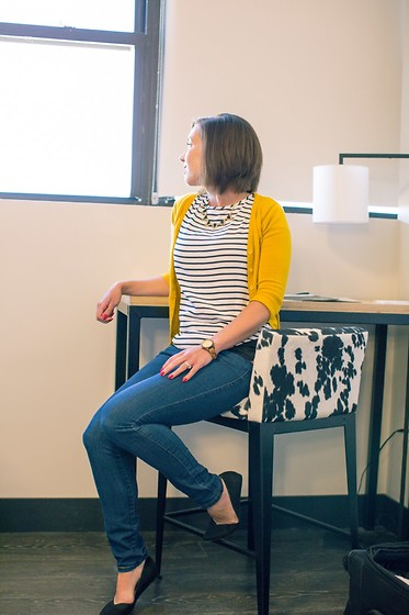 Lindsey Puls - Modcloth Cardigan, H&M Top - An Outfit for Crazy Spring Weather