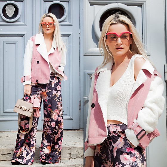 Cristina Tabun - Vipshop Coat, Dresslily Bag, Zaful Sunglasses - Flowers