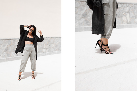 Maray - Wearall Jacket, Stradivarius Sandals - Cargo Pants