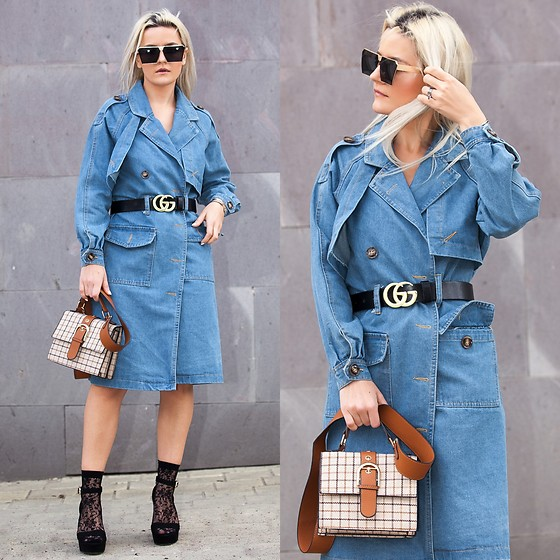 Cristina Tabun - Zaful Coat, Rosegal Bag, Zaful Sungasses - D E N I M coat