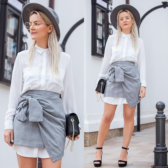 Cristina Tabun - Zaful Skirt, H&M Dress - G r e y & W h i t e