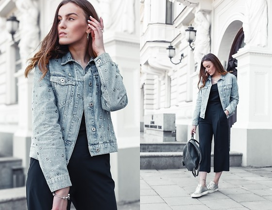 Aiste Mondayjazz - Reserved Jean Jacket, Audimas Top, Audimas Pants, Dob Shop Backpack, Ecco Shoes - OOTD: warm spring days