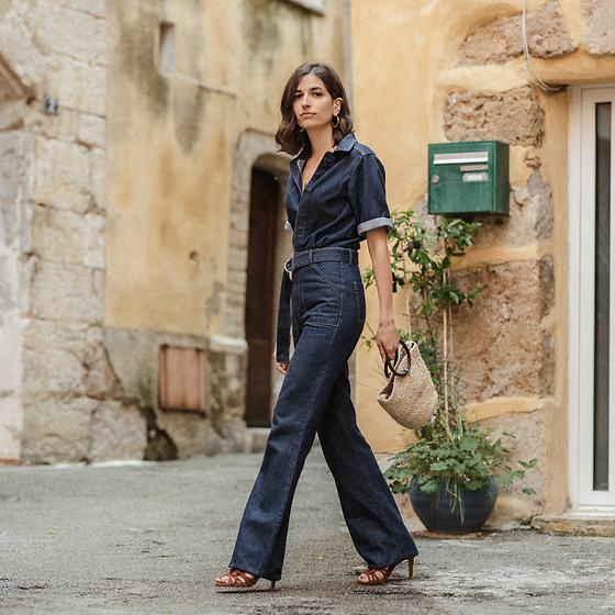Aria -  - The perfect 70s inspired denim jumpsuit