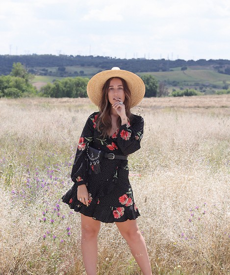 Claudia Villanueva - Asos Hat, Shein Dress, Asos Belt - Dots & Flowers