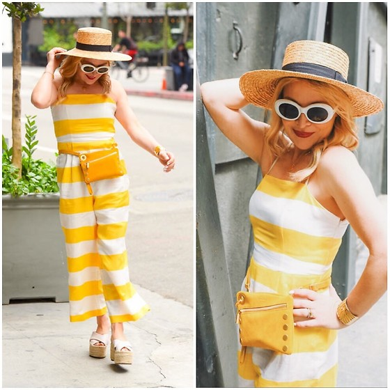 Zia Domic - Cece By Cynthia Steffe Jumpsuit - Yellow Striped Suit