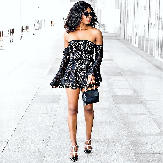 Eunice Addo -  - Off shoulder romper